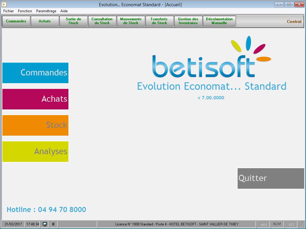 Logiciel gestion de stocks Betisoft
